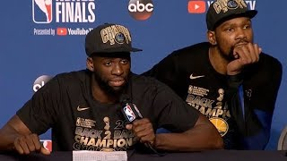 Draymond Green, Klay Thompson discuss Game 4 against the Cavaliers