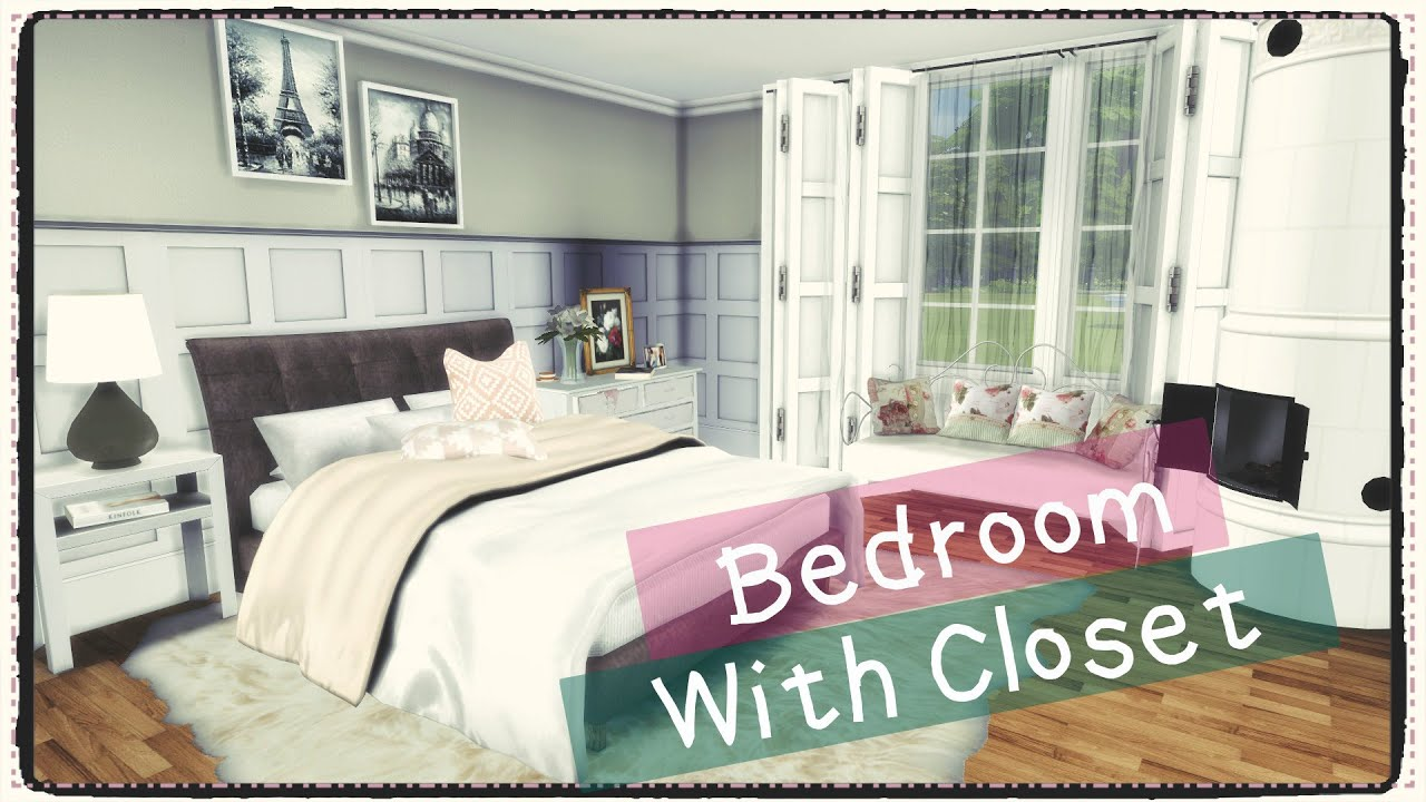 Sims 4 Bedroom With Closet Build Amp Decoration Youtube
