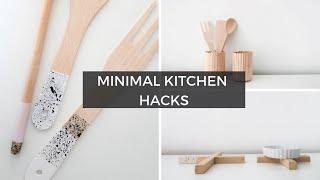 DIY MINIMAL KITCHEN DECOR + ORGANISATION IDEAS | Minimalista