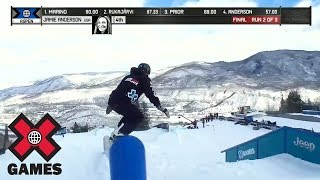 Jamie Anderson takes gold in Snowboard Slopestyle at Aspen 2018 | X Games | ESPN