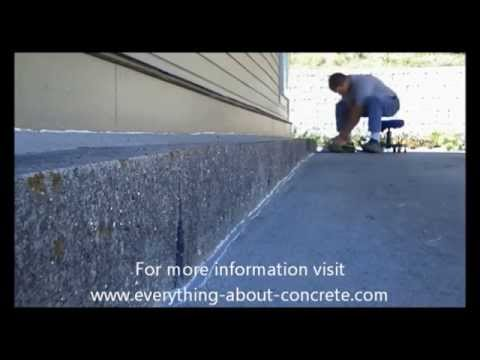 how to caulk a concrete isolation joint music