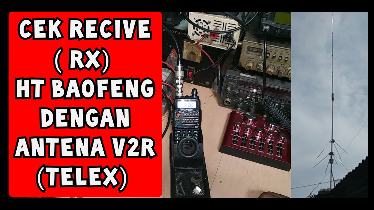 ngebrik mengunakan baofeng dengan antena v2r - YouTube