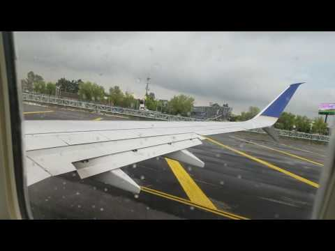 United Airlines 737 Take off from Mexico city (mex)
