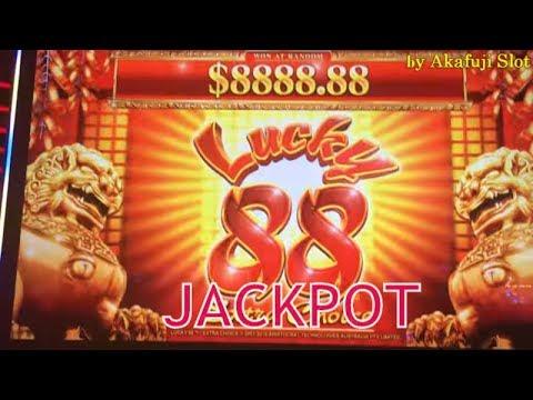 JACKPOT★New Lucky 88 Part 2★15 Free Spins X88 & Retrigger Bonus Handpay ★ 2c Denom Slot, Akafuji