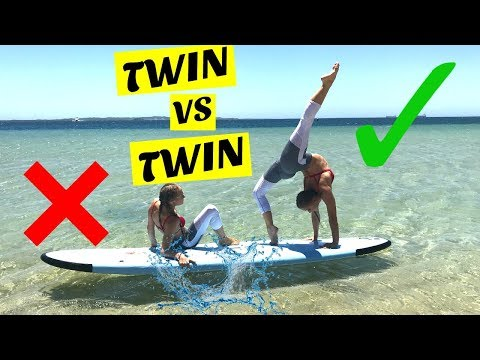 Yoga Challenge on a paddle board | Twin Vs Twin