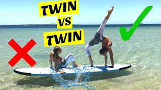 Yoga Challenge on a paddle board | Twin Vs Twin thumbnail