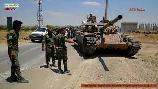 Syria's Tiger Forces approach the Golan Heights