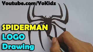 How to draw Spider man Logo
