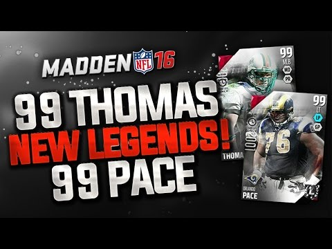 MUT 16 BOSS ULTIMATE LEGENDS - ZACH THOMAS AND ORLANDO PACE NOW IN PACKS!