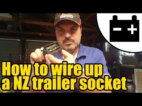How to wire up a NZ trailer lighting socket #1949