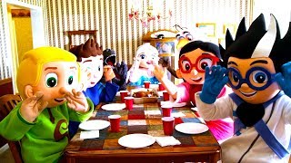 Paw Patrol - Marshall Cook Dinner In Real Life | Heroes & Villains | Ellie Sparkles