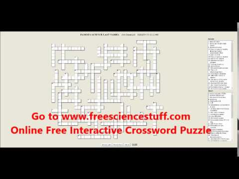 Famous Scientist Interactive Online Crossword Puzzle