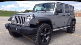 """2014 Grey Jeep Wrangler Unlimited Sport w 33"""" Inch Tires Newmarket Ontario  MacIver Dodge Jeep"""