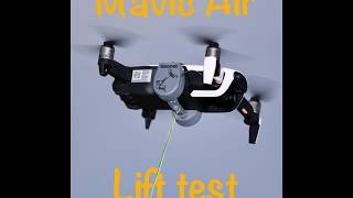 Mavic Air lift test