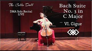 Bach Suite No. 3 in C Major, VI. Gigue (DMA Recital, Live)