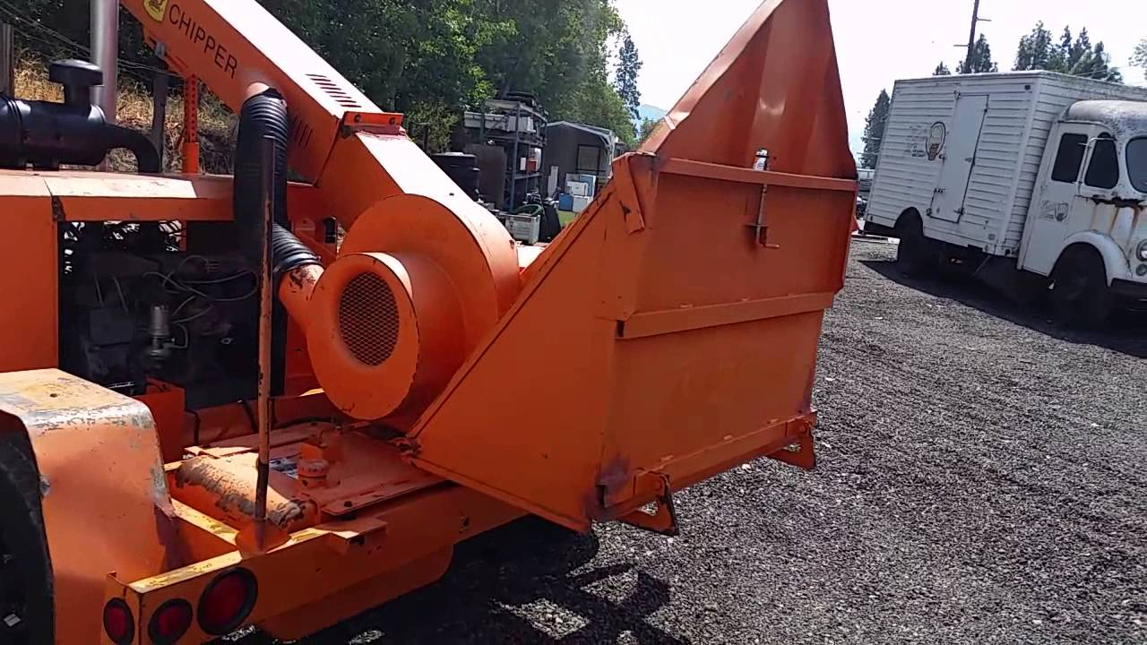 1997 Altec Wc612 Wood Chipper 6 Cyl Ford 12 Drum 6