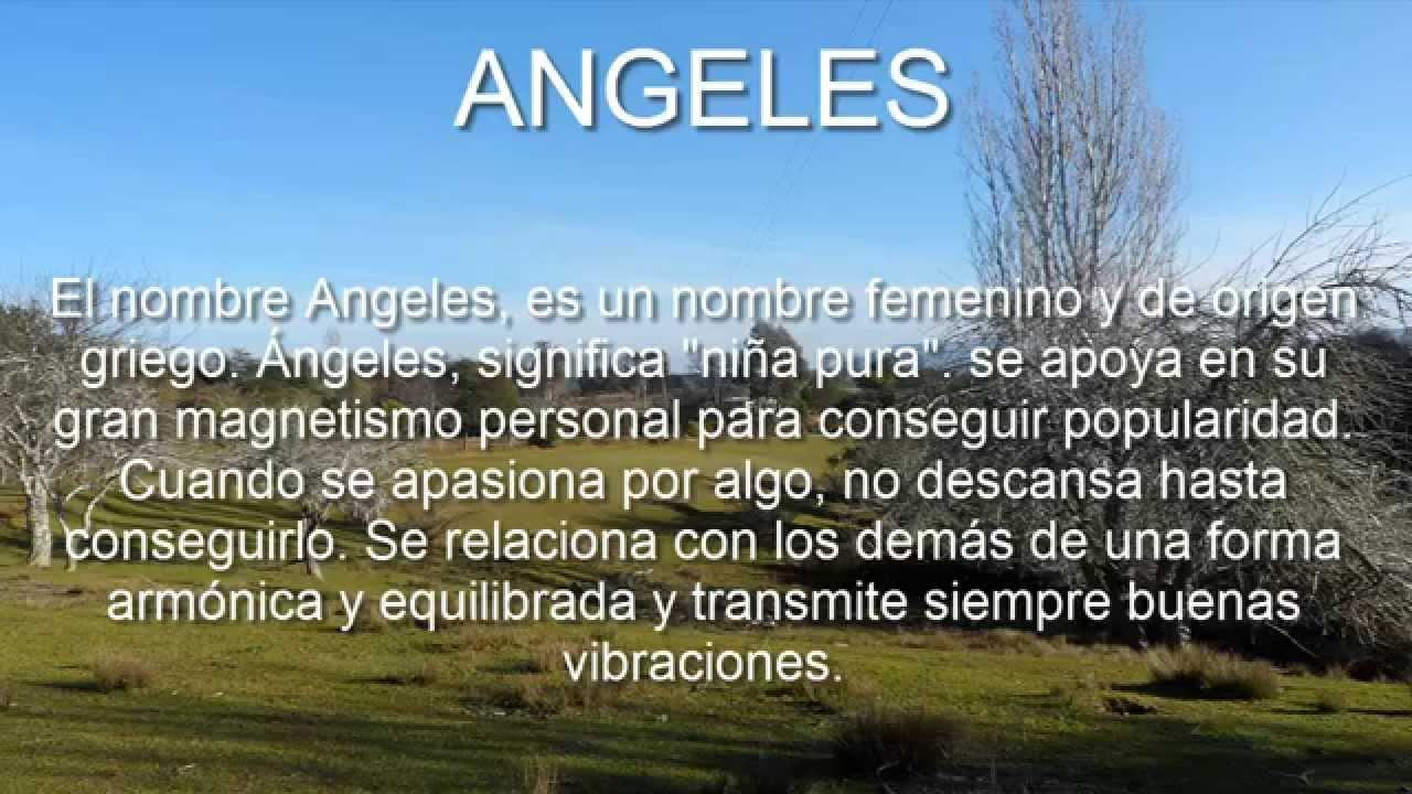 Angeles significado y origen del nombre youtube for Nombre del sillon de los psicologos