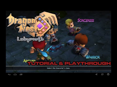 Dragon Nest Labyrinth (Mobile/Android) - First Look & Tutorial Playthrough (Warrior) ~ !