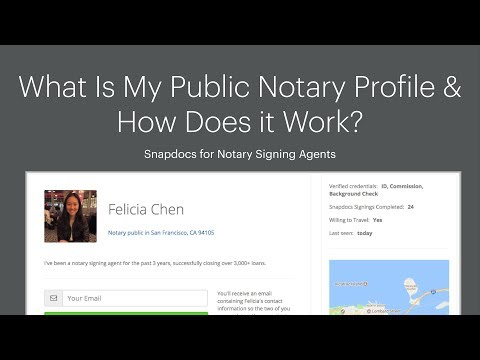 What is my public notary profile and how does it work? – Snapdocs