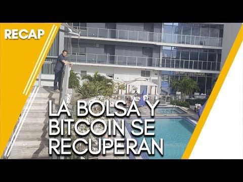 La bolsa y bitcoin se recuperan