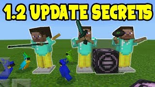 MINECRAFT POCKET EDITION 1.2 UPDATE SECRETS! // Minecraft PE 1.2 UPDATE SECRET FEATURES!