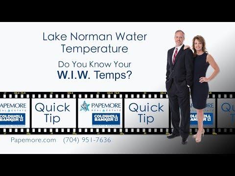 Lake Norman Water Temperature
