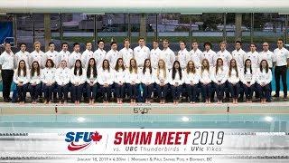 SFU Swimming & Diving vs. UBC & UVic - January 18, 2019