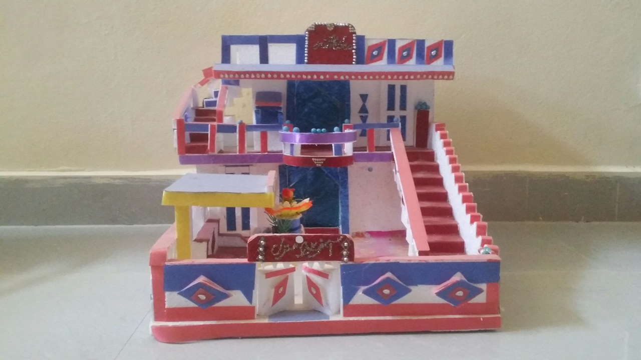 Diy beautiful thermocol house model 1