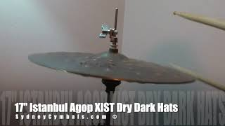 "17"" Istanbul Agop XIST Dry Dark Hats"