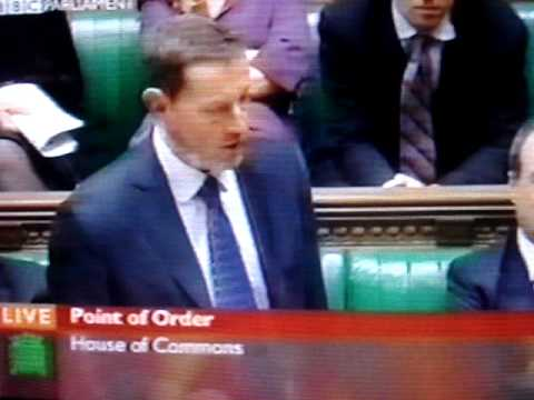 House of Commons - David Blunkett starts a riot