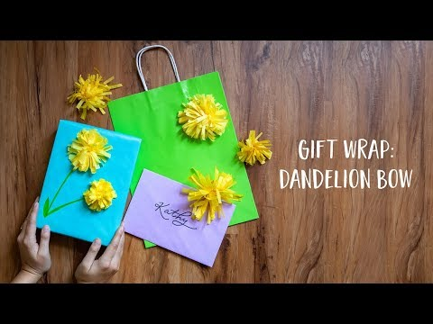 Wrapping Paper DIY: Tissue Paper Dandelion