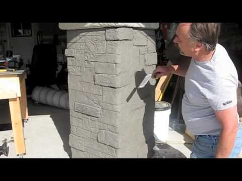 Decorative Concrete Used To Create Stone Masonry Youtube