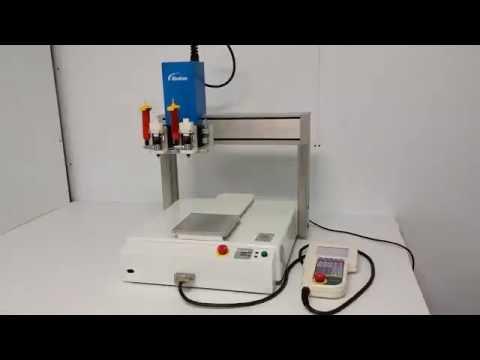 Janome JR2303N JR2000N Desktop 3-Axis Robot w/ Nordson Adhesive Applicator Head - 10561