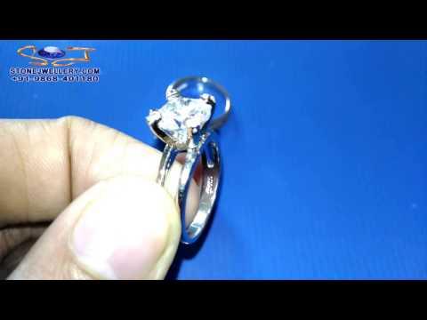 925 Silver Ring - Zircon Stone - American Diamond - Wholesale | StoneJwellery | +91-9868-401180 # 2