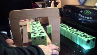 Cutting Candied Apple Moonshine Soap