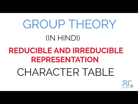 Character Table Part 1 (Reducible and Irreducible  Representation )
