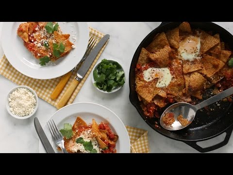 Tomato and Green Chiles Chilaquiles- Everyday Food with Sarah Carey