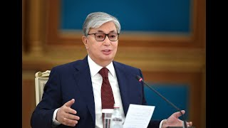 Президент Казахстана Касым-Жомарт Токаев выступает с посланием к народу