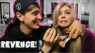 BOYFRIEND DOES GIRLFRIENDS MAKEUP!!!