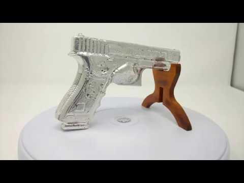 Silver.Life Full 3D Silver Bullion Gun 51.5 oz .999 Fine Silver