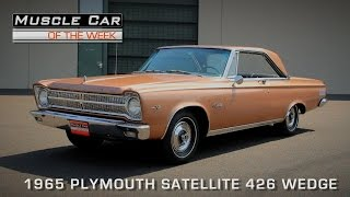 Muscle Car Of The Week Video Episode #113 - 1965 Plymouth Satellite 426 Wedge