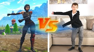 FORTNITE DANCE CHALLENGE - ALL THE DANCES IN REAL LIFE