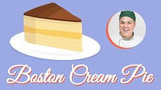 Boston Cream Pie - Receita fácil, rápida, clássica e deliciosa 🎂