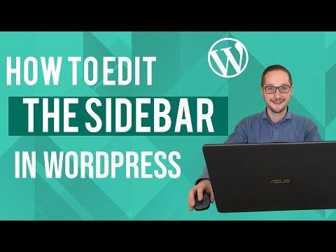 How to edit the sidebar in Wordpress Tutorial thumbnail