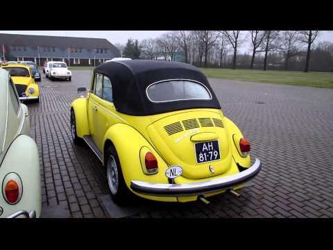 1970 yellow vw beetle convertible pt1 @ kwf rosmalen 2013
