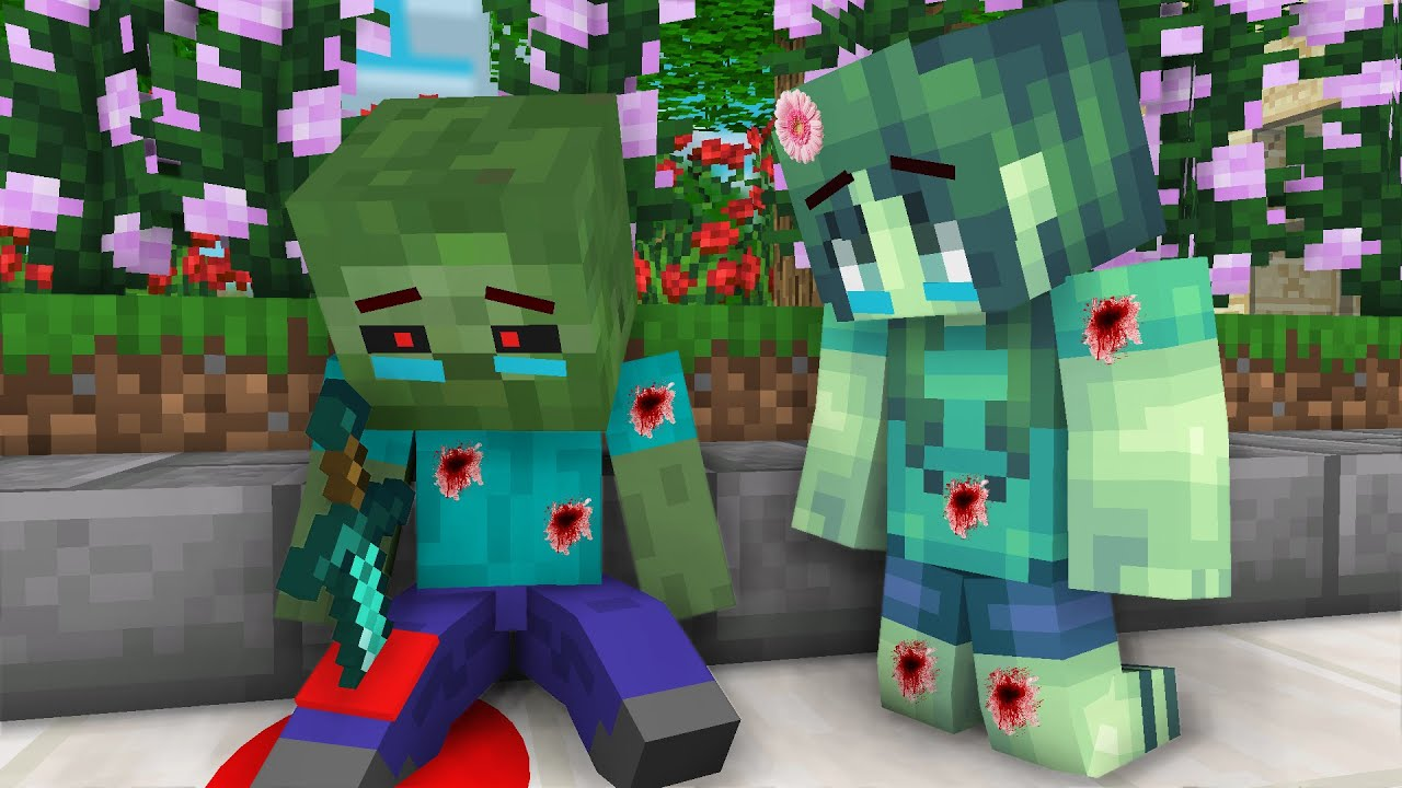 Monster school :When baby Zombie became hero - sad  Minecraft Animation