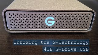 Unboxing the G-Technology 4TB G-Drive USB