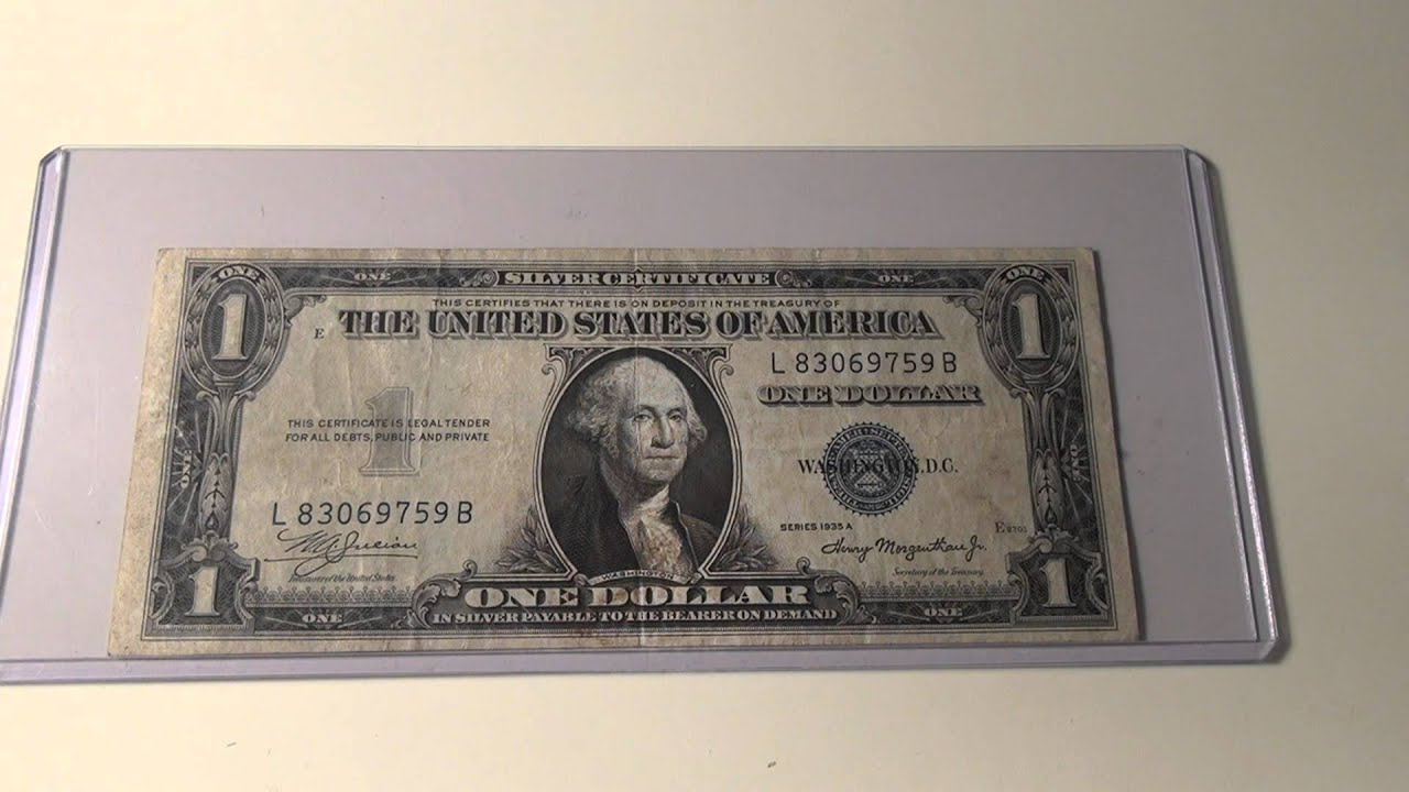 1935a 1 silver certificate youtube 1935a 1 silver certificate xflitez Choice Image