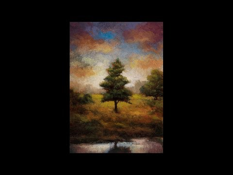 Long Shadows 5×7 Redo Tonalist Landscape Oil Painting Demonstration