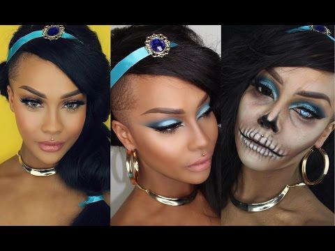 Watch a Woman Transform Herself Into 3 Stunning Versions of Princess Jasmine for Halloween